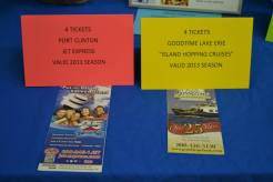 We have 4 tickets for the Jet Express and 4 tickets for the Goodtime Lake Erie Island Hopping Cruise!